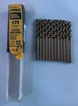 DeWalt DD4329B12 #29 Cobalt Screw Machine Drill Bits 12 Germany - $13.86