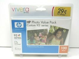 HP Vivera Inks Photo Value Pack Custom 95 Series 100 4x6 Photo Paper 11/2006 NEW - $21.77