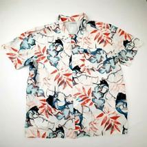 Columbia Mens Vented Shirt Fish & Floral Size XXL Multicolor Cotton DL11 - $9.89