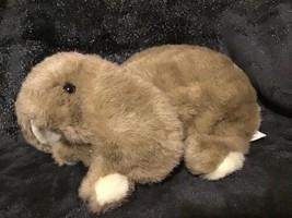 "Folkmanis Lop Eared Bunny Rabbit Tan Brown Cream 10"" Long Plush Puppet Floppy - $19.79"