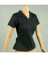 1/6 Phicen, TBLeauge, Hot Toys, Kumik, Cy, NT - Female Black V-Neck T-Shirt - $9.41