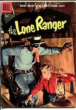 Lone Ranger #104 1957-Dell-painted cover-Dan Reid's Secret Hide-Out-VG/FN - $63.05