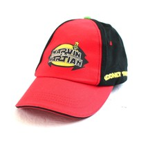 Marvin The Martian Hat Black And Red Cap Looney Tunes 2011 100% Cotton - $16.79