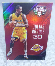2015-16 Panini Totally Certified Julius Randle Red SP Card #ed 57/149 KNICKS - $4.94