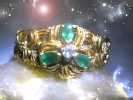 HAUNTED CLOVER RING SACRED GEOMETRY LUCKY NUMBERS SECRET MAGICK OOAK MAGICK  - $4,838.89