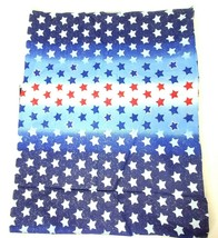 "Red White Blue Glitter Stars Fabric Material 1.5 YD x 44"" Fabric Traditi... - $23.00"