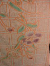 Unitex Intl Vintage Bath towel Neon Orange Floral image 3