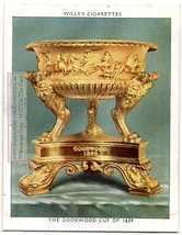 King George IV Goodwood Cup of 1829  English Treasure 1930s Ad Trade Card - $6.02