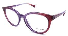Alain Mikli Rx Eyeglasses Frames A03070 002 52x19 Violet Pink Dot Made in Italy - $105.06