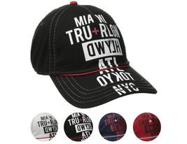 True Religion Men's World Tour Cities Print Baseball Trucker Hat Cap TR1952