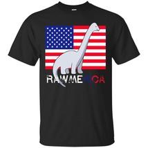 Rawmerica T-Shirt - Patriotic Diplodocus Dinosaur T-Shirt - ₨1,622.97 INR+