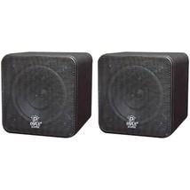 "Pyle Home PCB4BK 4"" 200-Watt Mini-Cube Bookshelf Speakers (Black) - $70.13 CAD"