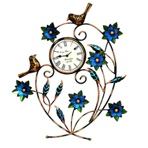 Decorative Wall Clock/Living Room of Two Birds Wall Clock with flower - €91,50 EUR