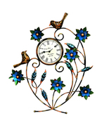 Decorative Wall Clock/Living Room of Two Birds Wall Clock with flower - $98.99