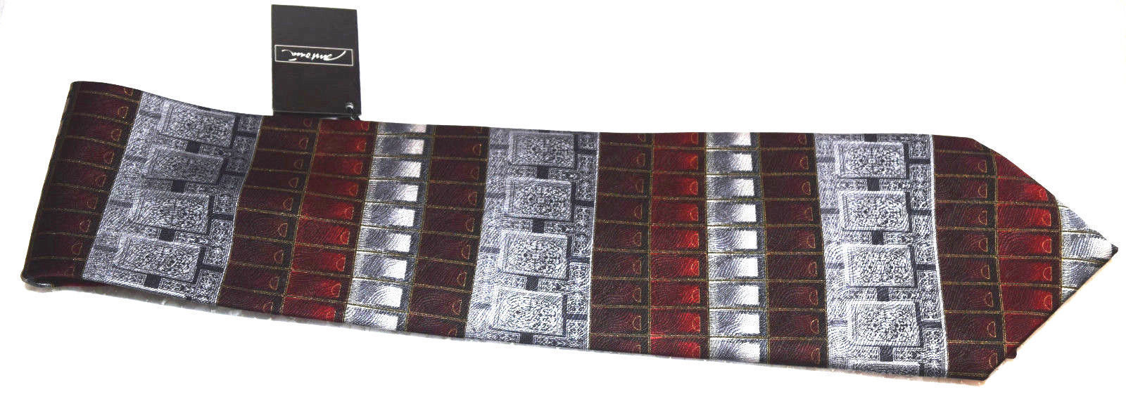 """NWT Antionia men's tie 59"""" X 4"""" Hand made tie 100% Silk New Very Nice Dry Clean image 5"""