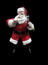 "Coca-Cola Kurt S Adler Resin Santa Holiday Christmas Ornament ""Shh"" - $12.38"