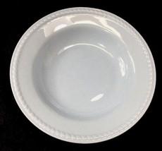 """Homer Laughlin Soup Bowl Kraft Blue Rope Edge  8.5""""  Made USA 1937 - $9.89"""