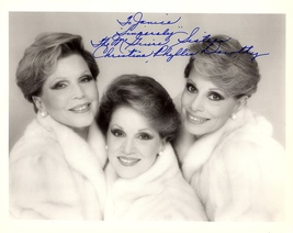 The McGuire Sisters AUTOGRAPHED SIGNED 8x10 Photo 1950's-1960's TV Singe... - $24.99