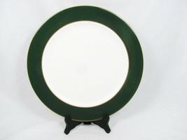"Aynsley John Evergreen Bone China Round Service Plate Green Band 12"" England  - $25.73"