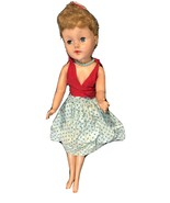 VINTAGE 1950's Revlon? Rooted Lash Large Doll Original Clothes & Jewelry... - $49.49