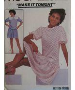 McCALLS 8013 Misses Drop Waist Dress & Collar PATTERN size 8 cut - $5.50