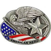 United States American BRONZE STAR USA Belt Buckle - $18.80