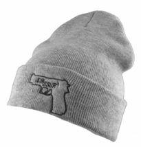 SSUR New York NY SIN Black or Grey Gun Fold Over Cuff Beanie Winter Hat NWT image 5