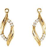 14K Yellow Gold Diamond Earring Jackets - $449.99