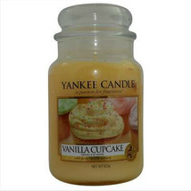 Yankee Candle Vanilla Cupcake Large 22 oz Scent Glass Jar, spice - $28.49