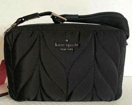 New Kate Spade New York Ellie Double Zip Camera bag Quilted Nylon handba... - $99.00