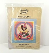 Vintage Something Special Party Bear Picture Needlepoint Kit 30431 NEW SEALED - $7.99