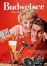Vintage Budweiser King of Beer Ad   Where There is Life  2.5 x 3.5 Fridg... - $3.99