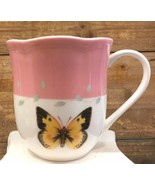 Lenox Butterfly Meadow Coffee Tea Mug Cup Pink Top Yellow Butterfly 10oz.  - $18.99