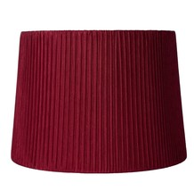 """Urbanest Faux Silk Box Pleated Drum Lampshade,12""""x14""""x10"""",Spider Fitter 7 colors - $34.99"""
