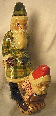 Vaillancourt Folk Art , Sleigh Ride Elf  signed by Judi