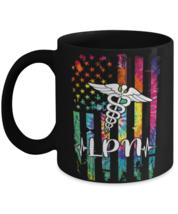 Funny mug for nurse, American Flagie Dye Costume Nurse Day Nursing Mug, nurse  - $14.95