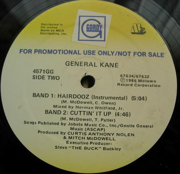 General Kane - Hairdooz - PROMO - Gordy 4571GG