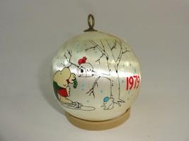 Vintage 1979 Ziggy Satin Christmas Tree Ball Ornament Universal Press Ho... - $11.29