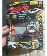 RC Pocket Racers LED + 4 Way Remote Control Black Car - Phantom with rac... - $0.98
