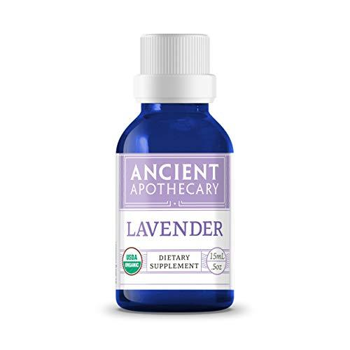 Lavender Organic Essential Oil from Ancient Apothecary, 15 mL - 100% Pure and Th