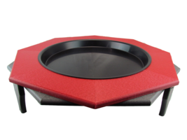 "JCs Wildlife Ground Garden Poly Lumber Bird Bath 16"" Red Gray Low Profile - $62.69"