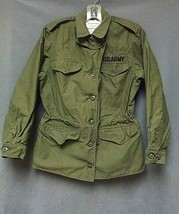Vintage 1975 Vietnam US Army Military Field Jacket OG-107 Women's Size 10 - $124.99