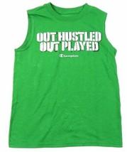 Boy's 6-16 Champion Muscle Tee Shirt Sleeveless Tank T-Shirt Out Hustle NEW