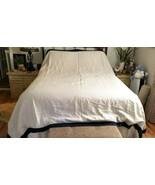 Williams Sonoma CHAMBERS ITALIAN LINEN Duvet Cover KING NATURAL/NAVY NWO... - $179.00