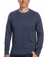 Kirkland Signature Mens Merino Wool and Pima Cotton Sweater (Blue, 2XL) - $39.99