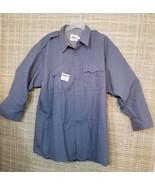 TEX-TROP BY ELBECO MEN'S POLICE/SECURITY 18 1/2 33 ASH GRAY LONG-SLEEVES... - $16.75