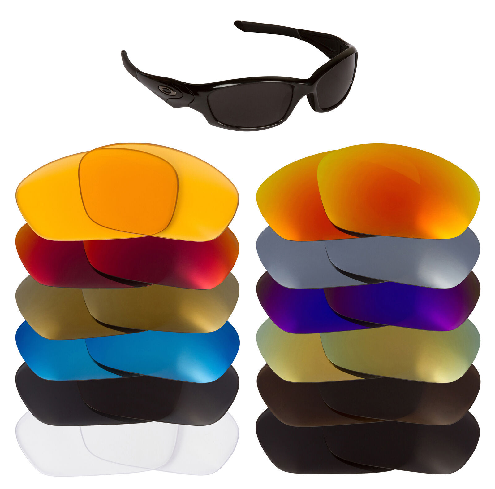 Primary image for Replacement Lenses for Oakley Straight Jacket Sunglass Anti-Scratch Multi-Color