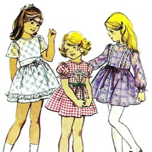 Vintage Sewing Pattern Girls Dress Size 4 Chest 23 Child 1970s Simplicit... - $9.79