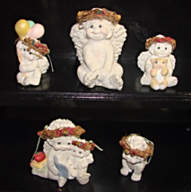 Dreamsicles figures-Lot of 5--95 & 96--vintage - $25.00