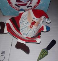 Boston Warehouse Ho Ho Ho Santa Dip Bowl & Spreader Set w/ Box 2007 Chri... - ₹783.10 INR